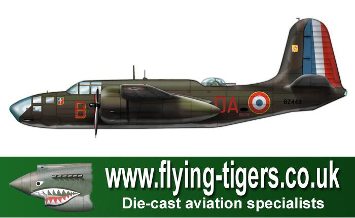 HA4203 Douglas Boston Mk IV Free French Air Force No - Flying Tigers