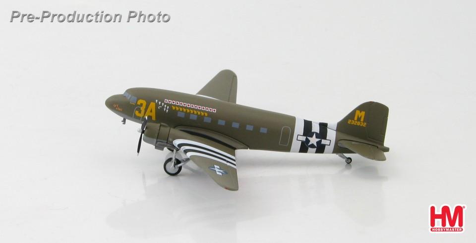 "HL1305 Douglas C-47 ""Sky King"" 42-32832, 53rd Troop Carrier Sqn., Mt. Pleasant, USA BUY PRICE: £49.99 incl VAT (RRP £64.00, SAVING £14.01) (BUY IT) THIS IS A PRE-ORDER MODEL"