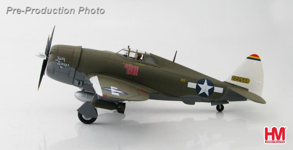 """HA8452 Hobbymaster P-47D Thunderbolt """"Razorback"""" 42-22668, Col. Neel Kearby """"Fiery Ginger IV"""" 348th FG., New Guinea, March 1944"""
