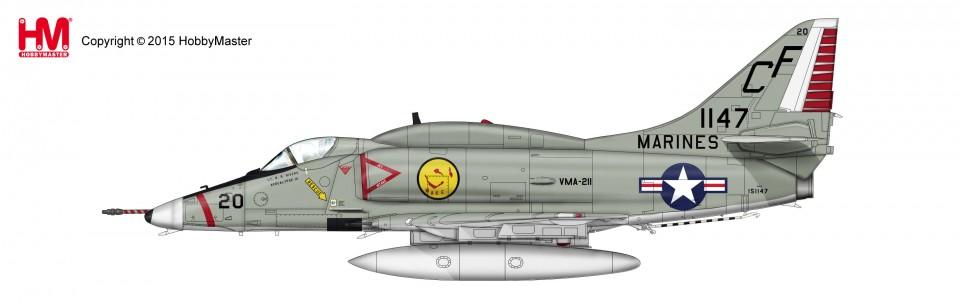 HA1426 Douglas A-4E Skyhawk BuNo 151147/CF 20 VMA-211, Chi Lai, 1968