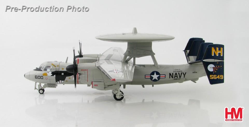 """HA4807 Hobbymaster Northrop Grumman E-2C Hawkeye 2000 165649, VAW-117 """"Wallbangers"""", USS Nimitz, Feb 2008"""