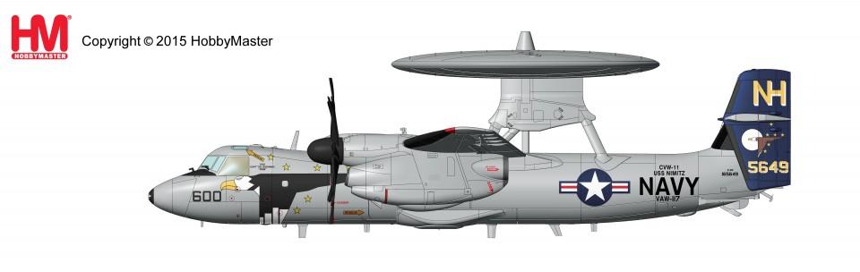 """HA4807 Northrop Grumman E-2C Hawkeye 2000 165649, VAW-117 """"Wallbangers"""", USS Nimitz, Feb 2008"""