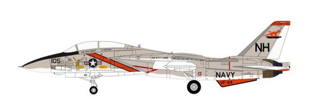 CW001618 Grumman F-14A Tomcat USN VF-114 Aardvarks, NH105, USS Kitty Hawk, 1978