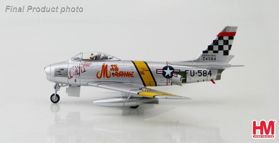 "HA4312 Hobbymaster F-86F Sabre 52-4584, ""MIG MAD MARINE"" Major John Glenn, 25th FS, Suwon AB, Korea, 1953"