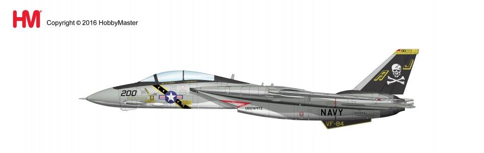 "HA5203 Hobbymaster Grumman F-14A BuNo 160393/AJ 200, VF-84 ""Jolly Rogers"" US NAVY, 1977"