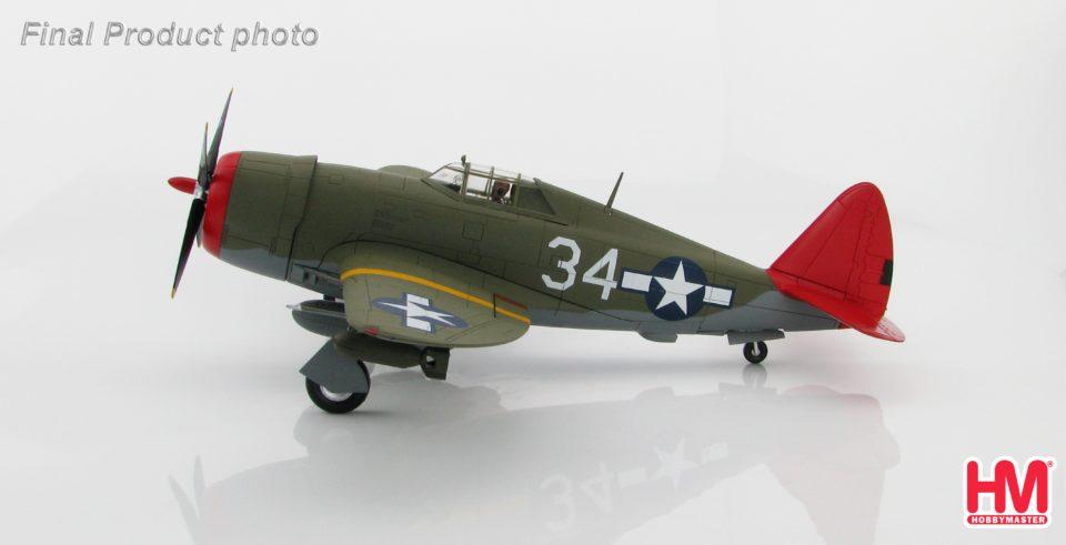"HA8454 Hobbymaster P-47D ""Tuskegee"" No.34, 100th FS, 332nd FG, Italy 1944"