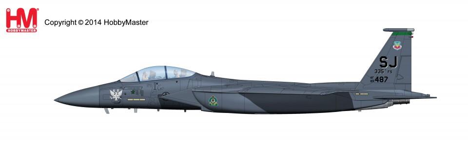 HA4506 Hobbymaster Douglas F-15E Strike Eagle 89-0487, 335th FS, 4th FW, Bagram AB, Afghanistan, Jan 2012