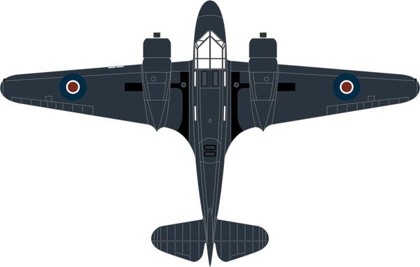 72AO002 Oxford Diecast Airspeed Oxford PH185 778 Sqn. Fleet Air Arm