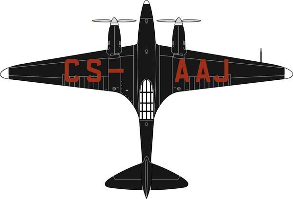 72COM005 Oxford Diecast de Havilland DH88 Comet CS-AAJ Salazar Portugal