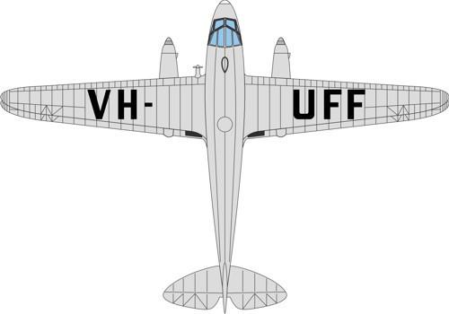 72DR013 Oxford Diecast DH Dragon Rapide VH-UFF Australian National Airways