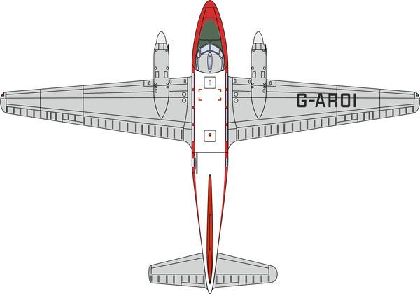 72DV004 Oxford Diecast de Havilland DH104 Dove G-AROI British Eagle
