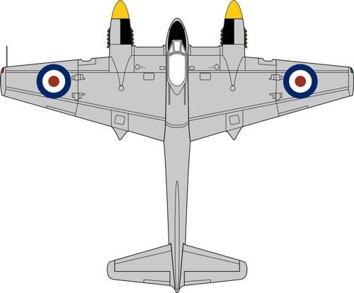 72HOR006 Oxford Diecast DH103 Sea Hornet TT197 728 Squadron Malta 1953