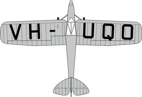 72PM007 Oxford Diecast DH80a Puss Moth VH-UQO My Hildegarde (Air Race)