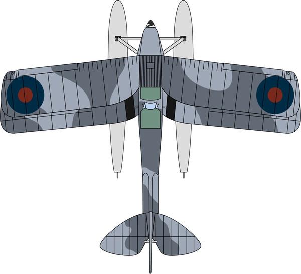 72TM009 DH Tiger Moth Floatplane Royal Navy T7187