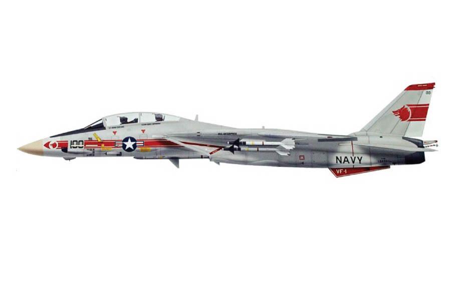 CA721402 Calibre Wings Grumman F-14A Tomcat USN VF-1 Wolfpack NK100 USS Enterprise Vietnam Operation Frequent Wind 1975