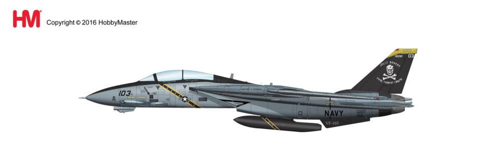 HA5204 Hobbymaster Grumman F-14B Tomcat CO Aircraft AA103 VF-103 Jolly Rogers USS J. F. Kennedy, 2004
