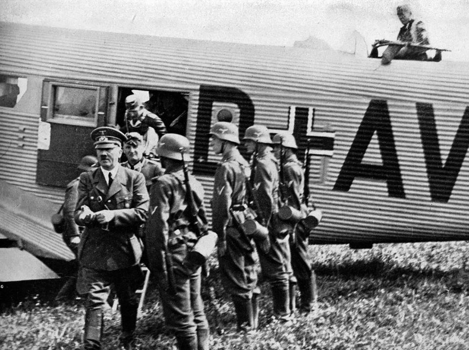 Invasion of Poland Adolf Hitler's personal Junkers Ju-52 transport