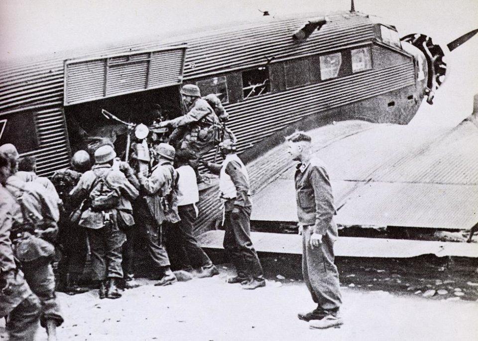 Junkers JU52 Unloading Supplies in Crete 1941