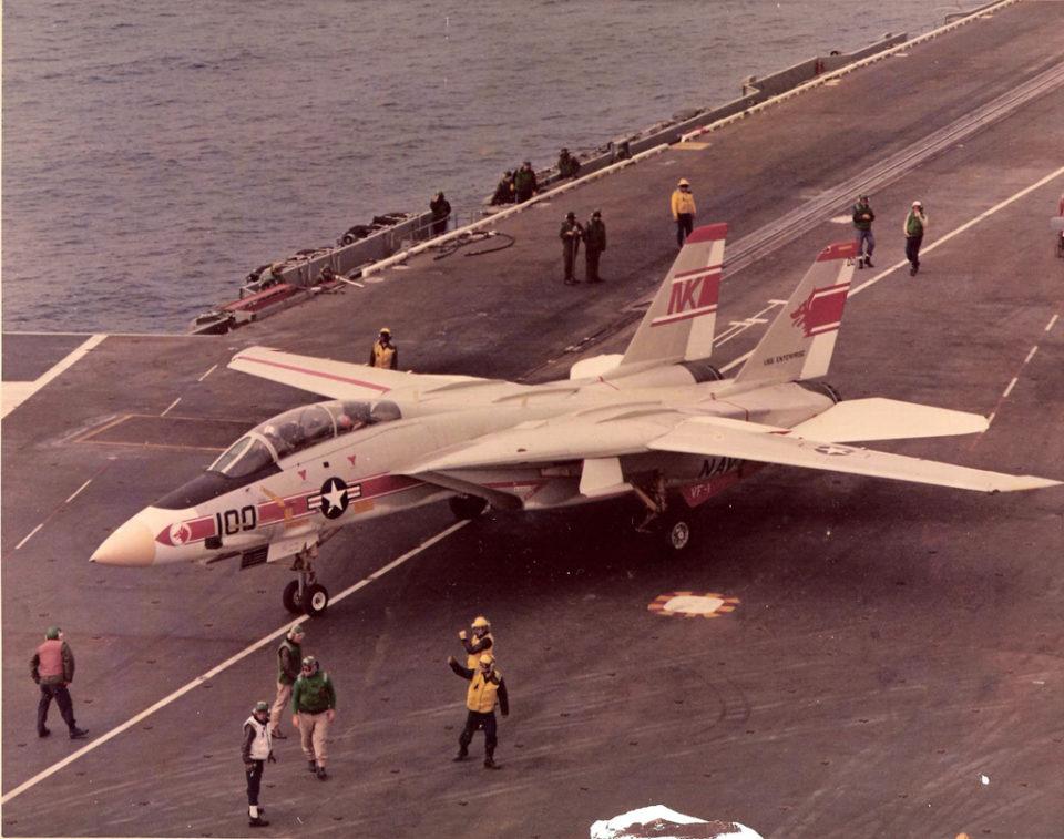 Grumman F-14A Tomcat NK100 / 158979 VF-1 Wolfpack USS Enterprise 1974