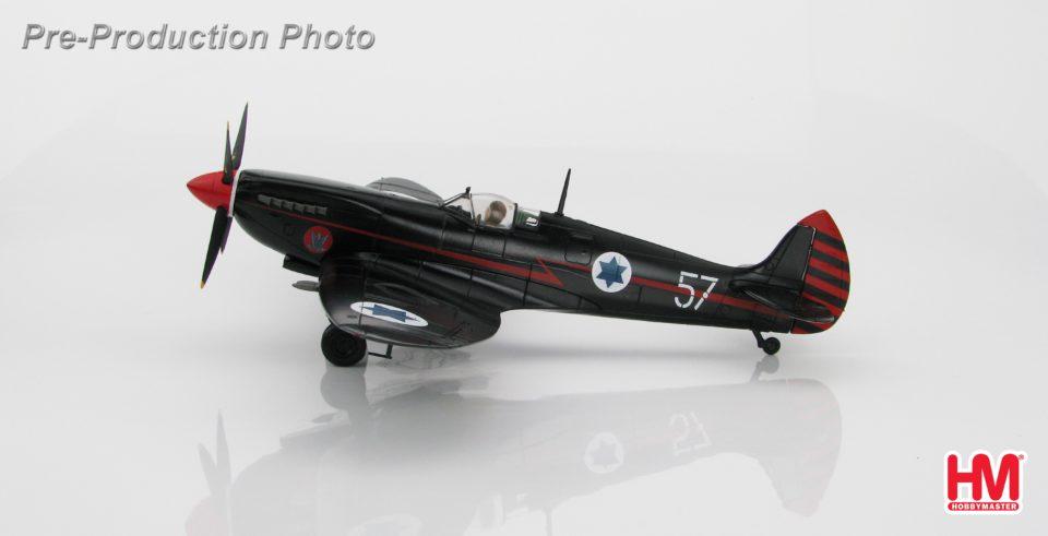 "HA8313 Hobbymaster Spitfire IXe ""Ezer Weisman"" 205/57, 105 Sqn., Ramat David AB, June 1955"