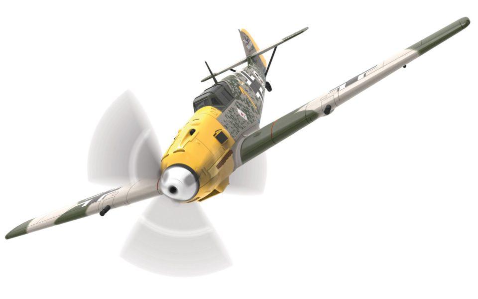 AA28001 Corgi Aviation Archive Messerschmitt Bf 109E-4, W.Nr.5057, 'Yellow 1', Oberleutnant Josef 'Pips' Priller, 6./JG51, Mardyck, France, October 1940