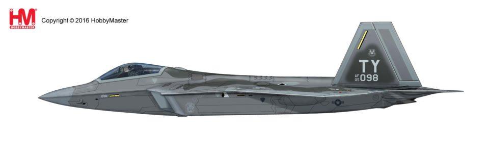 HA2816 Hobbymaster Lockheed F-22 Raptor 05-4098, 95th FS, August 2015