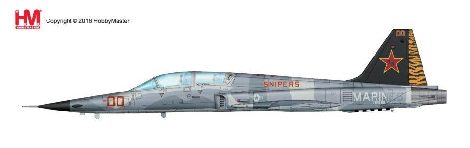 "HA3324 Hobbymaster Northrop F-5F Tiger II 761586, ""25th Anniversary VMFT-401 ""Snipers"""" MCAS Yuma, Arizona, Aug 2011"