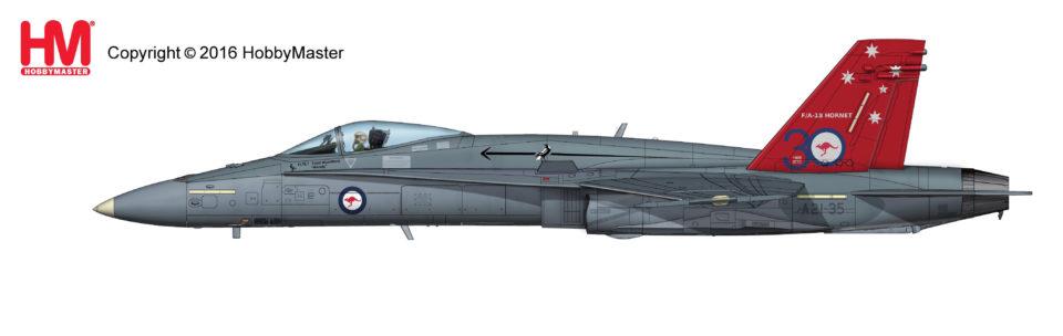 "HA3534 Hobbymaster McDonnell Douglas F/A-18A ""A21-35"" ""30 Year Anniversary"" of RAAF F-18 Hornet"