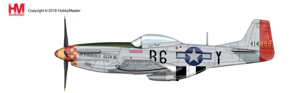 """HA7735 Hobbymaster P-51D Mustang """"Glamorous Glenn III"""" 44-14888, 363rd FS, 357th FG, Nov. 1944"""