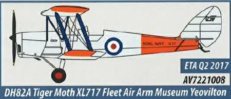 AV7221008 Aviation 72 DH82a Tiger Moth XL717 Fleet Air Arm Museum Yeovilton
