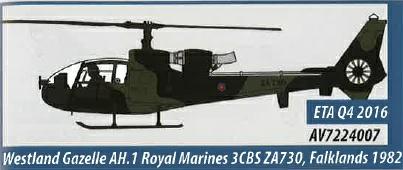 AV7224007 Aviation 72 Westland Gazelle AH.1 Royal Marines 3CBS ZA730 Falklands 1982