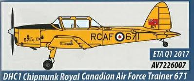 AV7226007 Aviation 72 DHC1 Chipmunk Royal Canadian Air Force Trainer 671