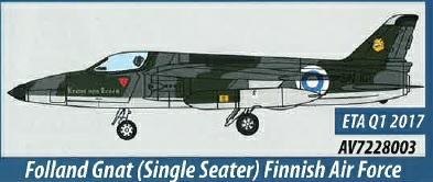 AV7228003 Aviation 72 Folland Gnat Single Seater Finnish Air Force