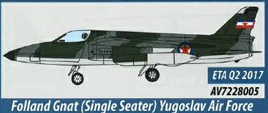 AV7228005 Aviation 72 Folland Gnat Single Seater Yugoslav Air Force Museum