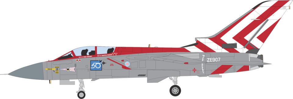 AV7251001 Aviation 72 Panavia Tornado F3 ZE907 65 Sqn RAF Coningsby 1990 Display Aircraft