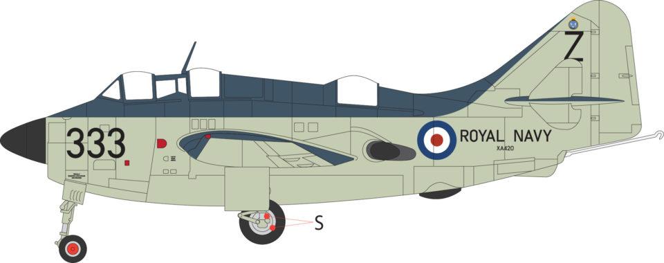 AV7252001 Aviation 72 Fairey Gannet XA420 333 824 NAS HMS Albion 1957