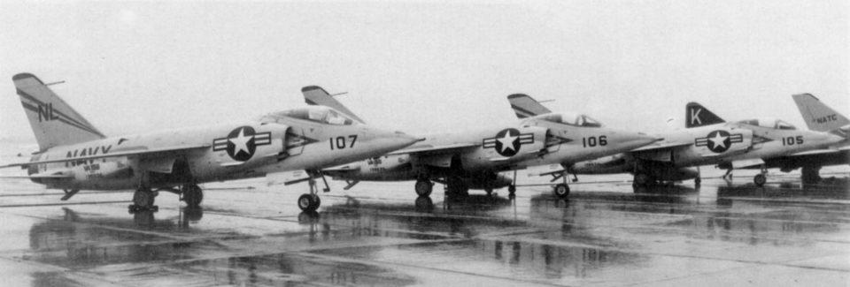 F11F-1 Tigers VA-156 parked circa 1956