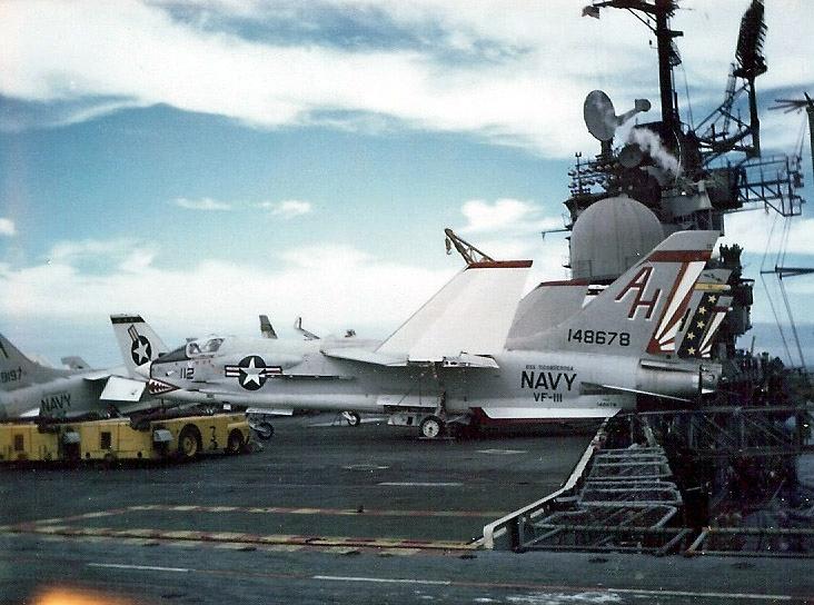 F-8H of VF-111 on USS Ticonderoga (CVA-14)1969