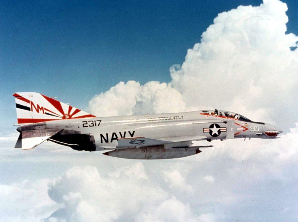 F-4N Phantom of VF-111 in flight in 1976