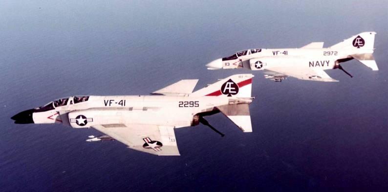 F-4B Phantom II (VF-41 / CVW-6) embarked on USS Franklin D. Roosevelt (CVA 42) - 1973