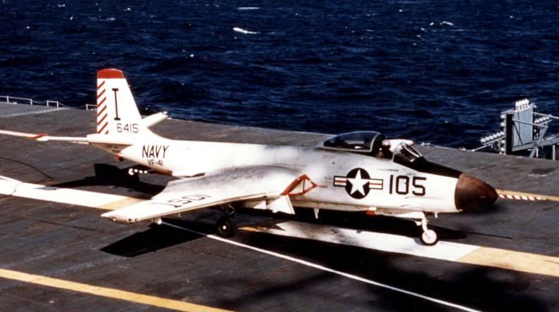 McDonnell F2H-3 Banshee (VF-41 / ATG-181) embarked on USS Bennington (CVA 20) 1956