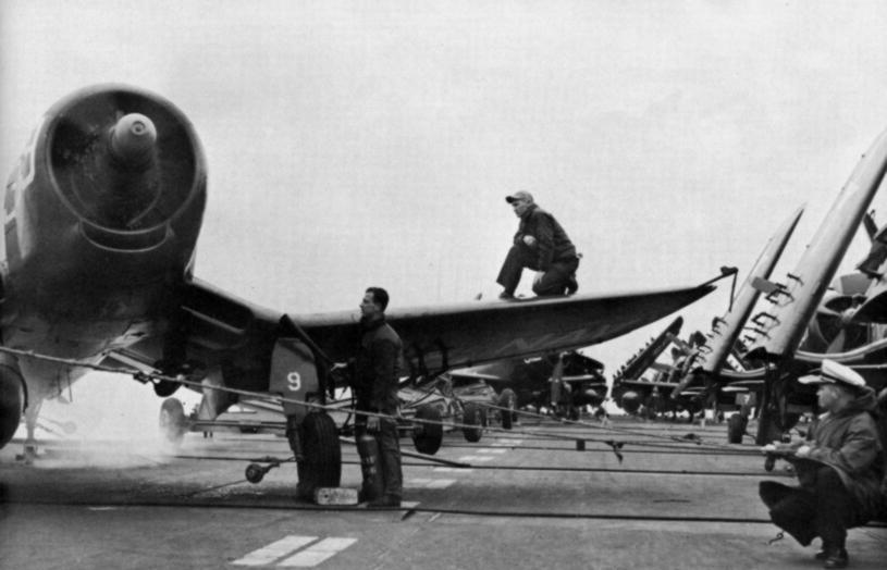 Vought Corsair F4U-4 VF-41 on USS Midway (CVA-41)
