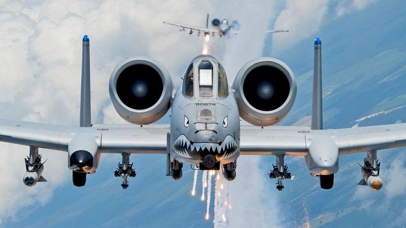 The Fairchild Republic A-10 Thunderbolt II (Warthog)