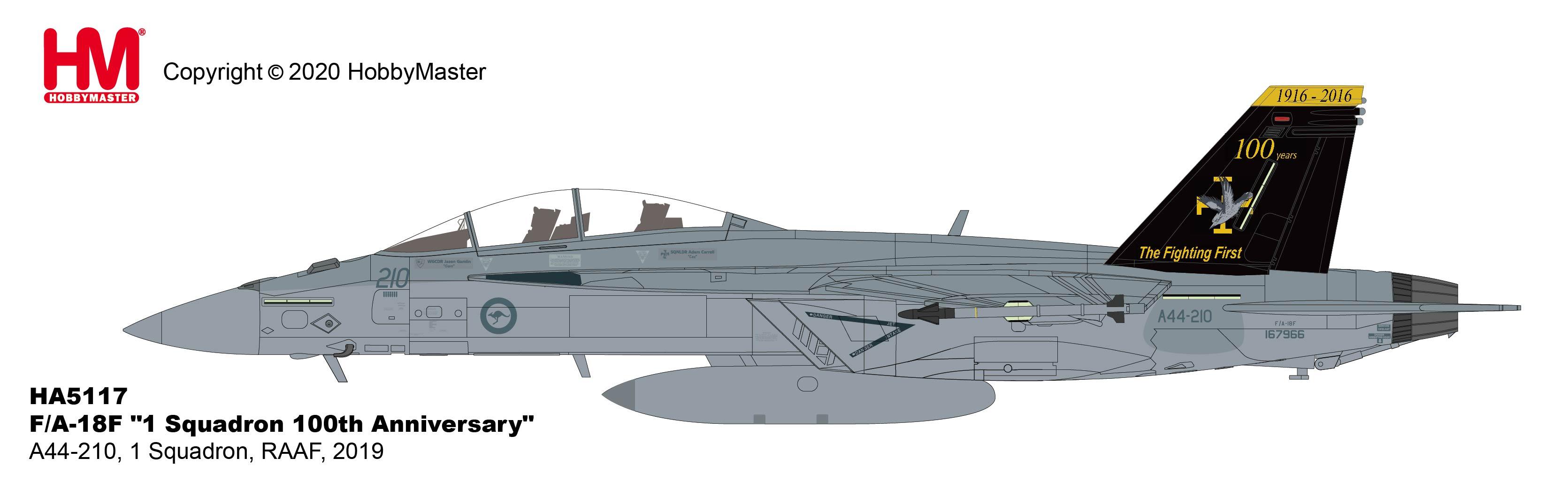 Hobby Master Ha3550 1//72 Cf-18 2016 Demo Flug von Kapitän Ryan Roid Kean 2016